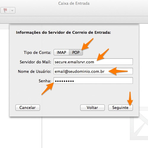 AppleMail (OS X Mountain Lion) - VeerMail POP
