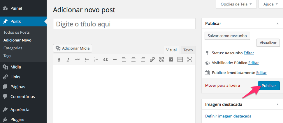 Como criar um post?